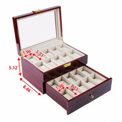 20 Slots Rose Wood Watch Storage Box