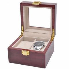2 Slots Rose Wood Watch Storage Box - Starzdeals