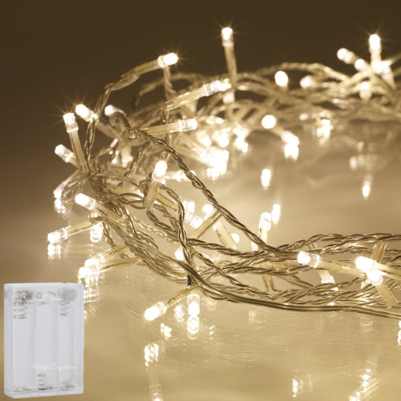 5 Meter 50 Led Battery Operated String Light - Warm White.