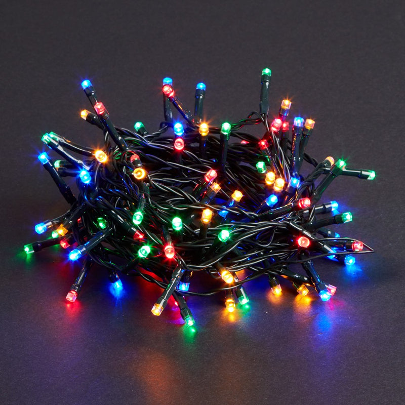 8 Modes - 10 Meters 100 Led Black String Light Power Point , Multi - Starzdeals