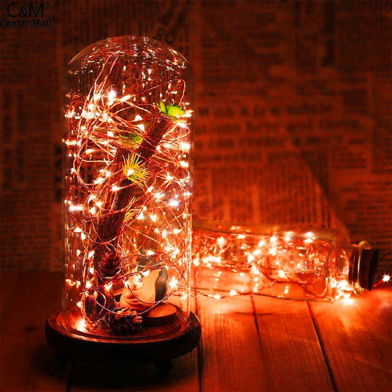10 Meters 100 Led USB Silver Wire with 8 Modes + Remote Control, Red