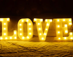 L O V E Lettering Battery Operated