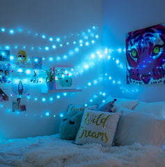 10 Meter 100 Led Battery Operated String Light - Cyan.