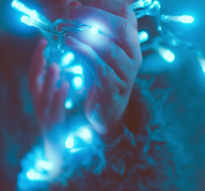 8 Modes - 10 Meter 100 Led Fairy String Light ,Cyan