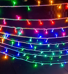20 Meters Rainbow Fairy String Lights Power Point, 8 Modes