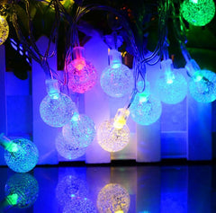 8 Modes - 10 Meter 100 Crystal Ball Fairy String Light Power Point , Multi