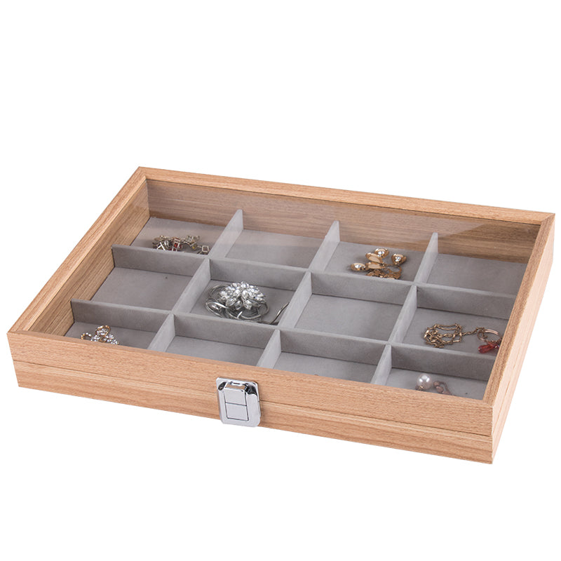 12 Grids Wooden Watch Jewelry Storage Box - Starzdeals