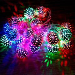 Battery Operated - 5 Meter 50 4 cm Steel Balls Fairy String Light , Multi - Starzdeals