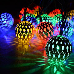 Battery Operated - 5 Meter 50 (4 cm) Steel Balls Fairy String Light , Multi