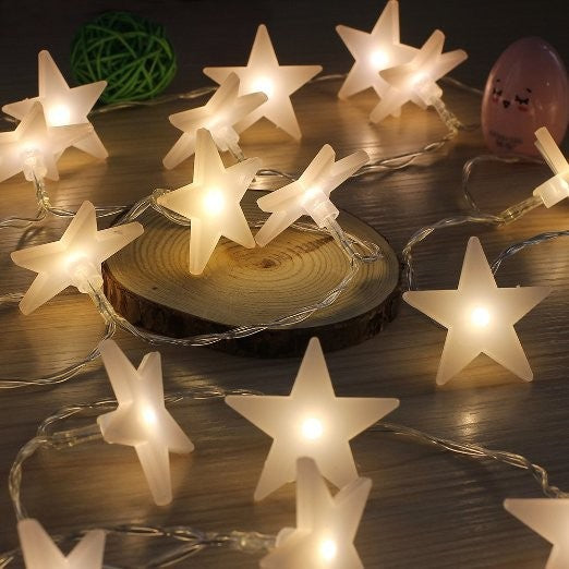 Battery Operated - 4 Meter 40 Stars Fairy String Light , Warm White - Starzdeals
