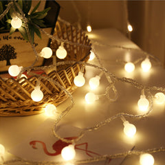 Battery Operated - 5 Meter 50 Balls Fairy String Light , Warm White