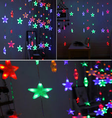 4 Meter Stars Curtain Lights, Multi .