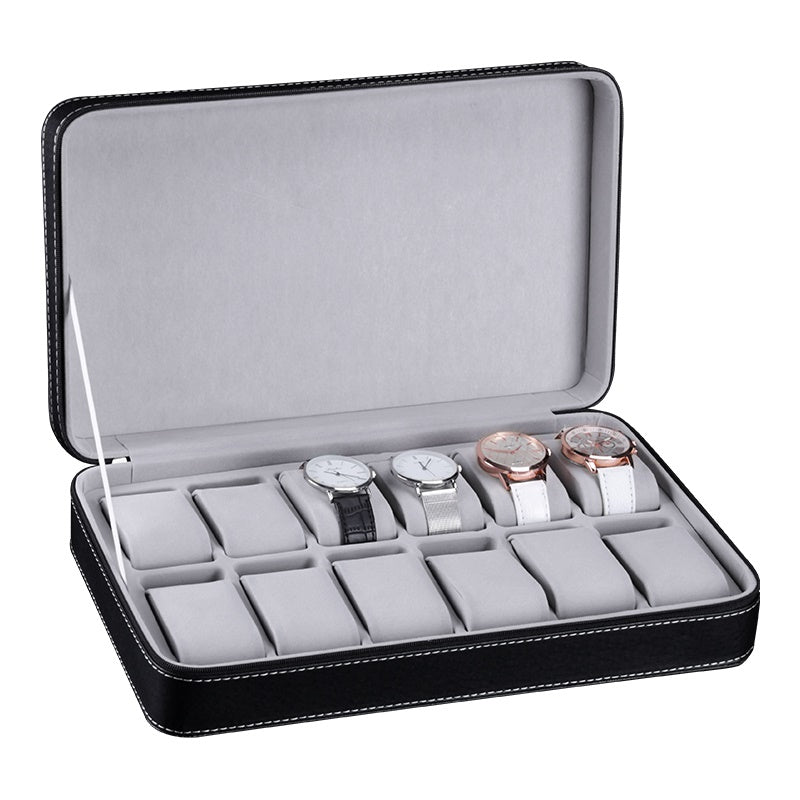 Classic 12 Slots Travel Watch Holder