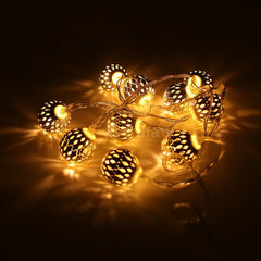 Battery Operated - 5 Meter 50 2.5 cm Steel Balls Fairy String Light , Warm White - Starzdeals