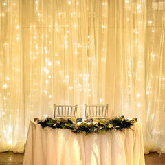 8 Modes - 2 Meters x 3 Meters 300 Led Curtain Lights Power Point , Warm White - Starzdeals