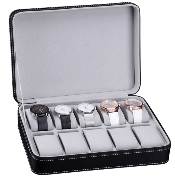 Classic 10 Slots Travel Watch Holder.