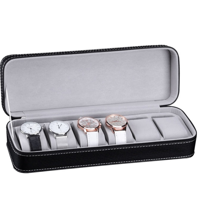 Classic 6 Slots Travel Watch Holder.