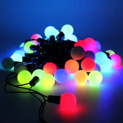 8 Modes - 10 Meter 100 Balls Black String Fairy Light Power Point , Multi - Starzdeals
