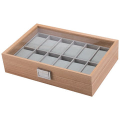 12 Slots Wooden Watch Storage Box - Starzdeals