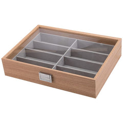 8 Slots Wooden Spectacles Storage Box - Starzdeals