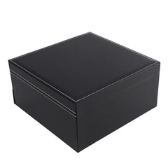 3 Layer Black PVC Jewelry Storage Box
