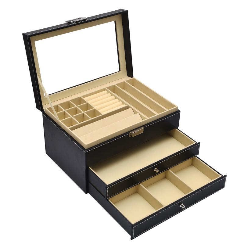 3 Tier Black 4 Drawers  -  Jewelry Storage Box Series 1
