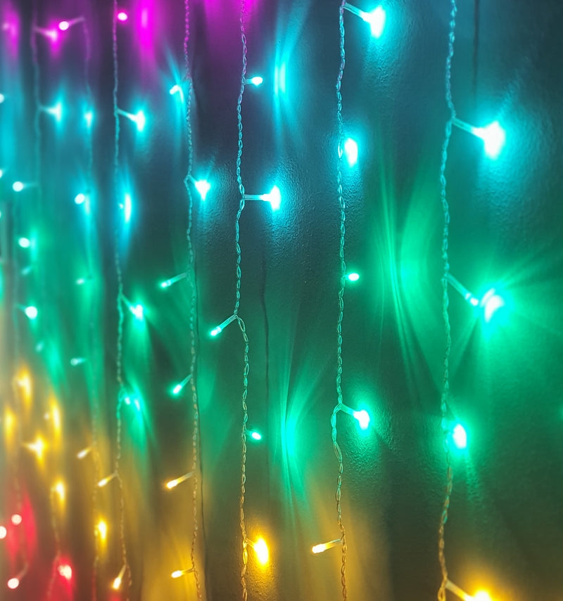 (Custom Made) 3 Meter x 1 Meter 200 Led Rainbow Curtain Lights