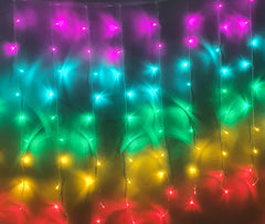 Starzdeals | 3 Meter x 1 Meter 200 Led Rainbow Curtain Lights