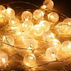 8 Modes - 10 Meter 100 Crystal Ball Fairy String Light Power Point , Warm White