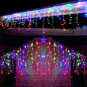 8 Modes - 3 Meter 188 Led Fairy Curtain Lights Power Point, Multi.