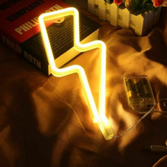 Thunder Neon Light, Powered by USB / Battery Operated, Warm White