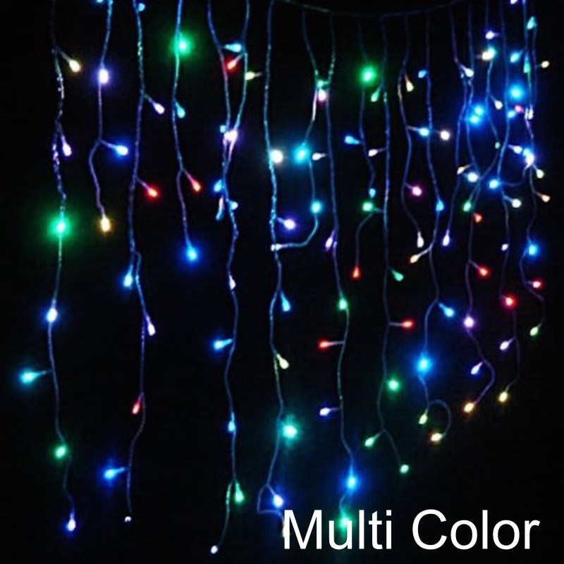 8 Modes - 3 Meter 188 Led Fairy Curtain Lights Power Point, Multi - Starzdeals