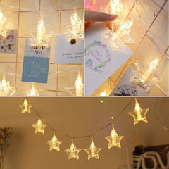 4 Meter 20 Stars Photo Clips Battery Operated Fairy String Lights