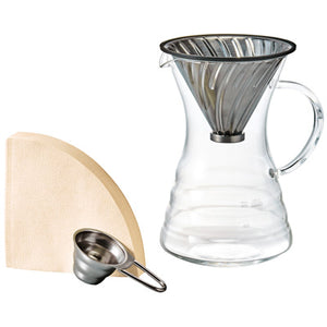 V60 Pour Over Decanter with Metal Dripper