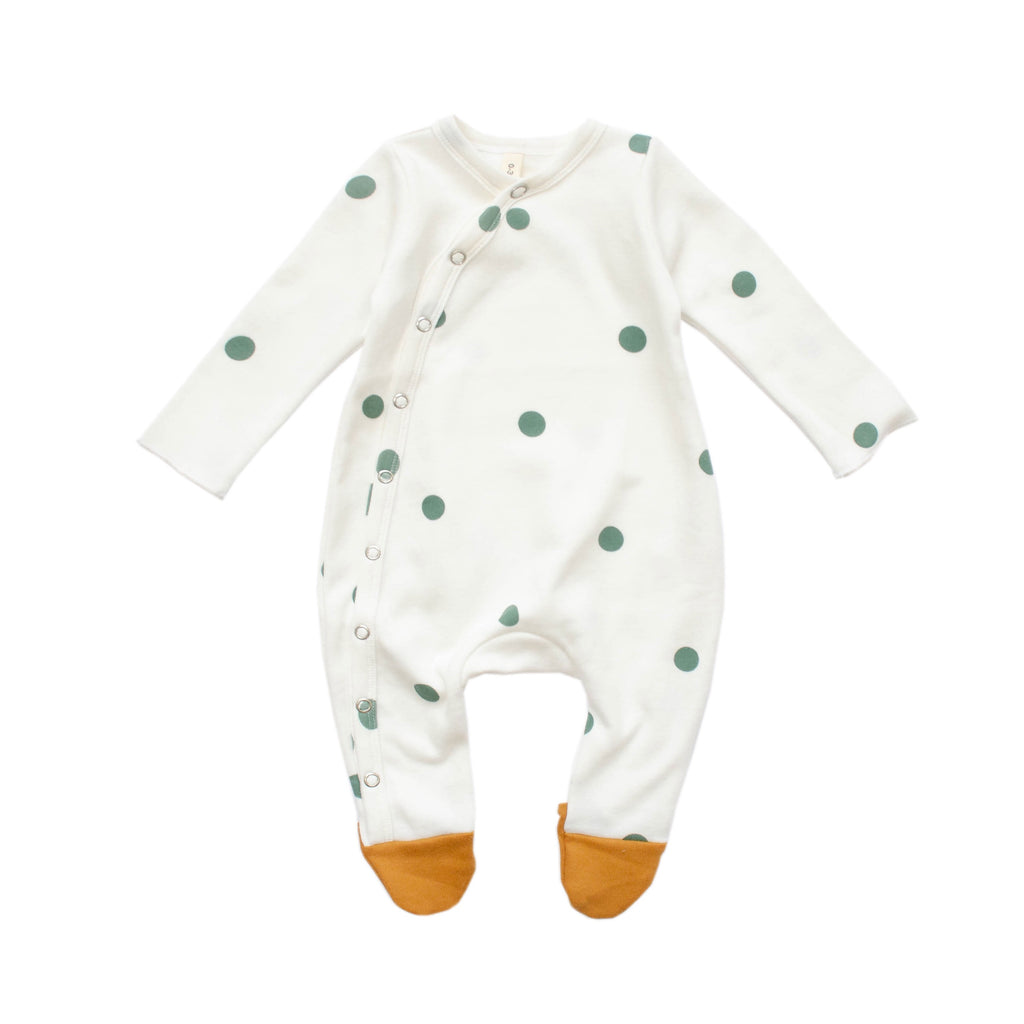 Organic Zoo Oat Dots Suit with contrast feet