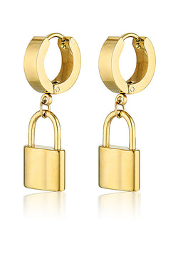 LOCK HUGGIE HOOPS
