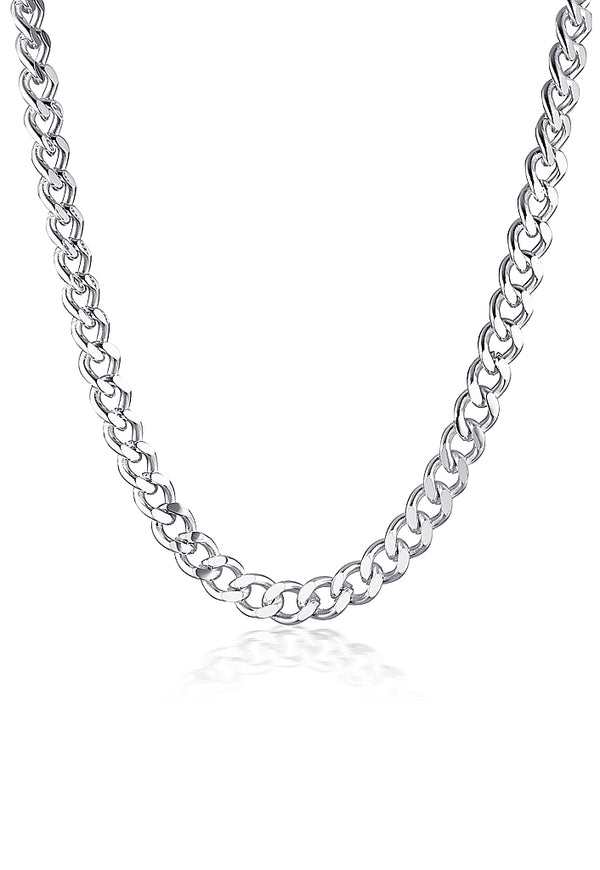 SILVER CAMELIA NECKLACE