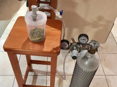 Hop container to purge with co2