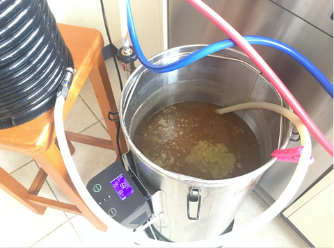 Grainfather post boil whirlpooling