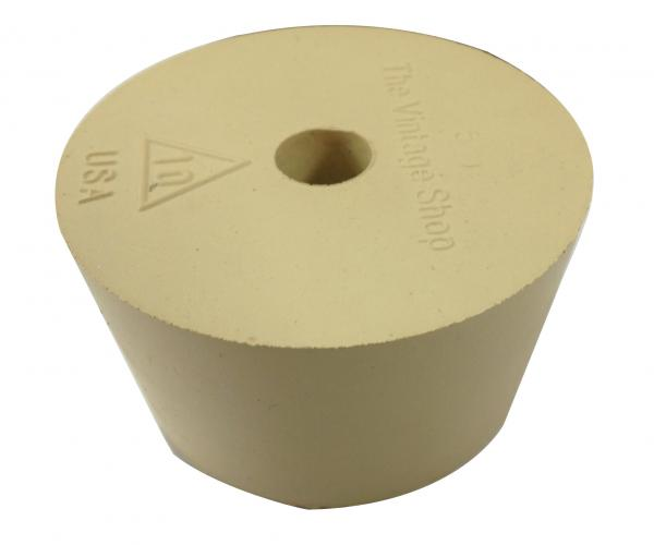 Rubber stopper (bung). #10 w/airlock hole (for plastic carboy)