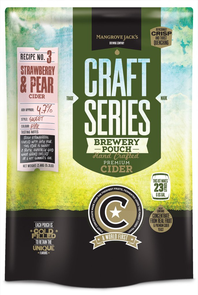Mangrove Jack's Craft Series Strawberry & Pear Cider - 2.4kg