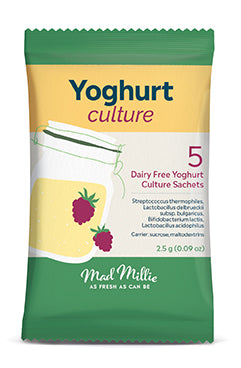 Mad Millie Dairy Free Yoghurt Culture Sachets x 5