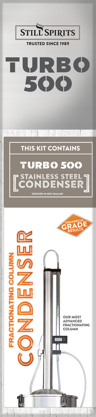 Turbo 500 Still Stainless Steel Condenser