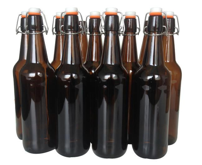 Mangrove Jack's Amber Flip Top Bottle - 750ml x 12