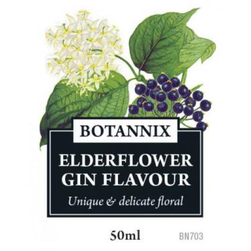 Spirits Unlimited Botannix Elderflower Gin Flavour - 50ml
