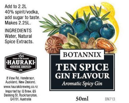 Spirits Unlimited Botannix Ten Spice Gin Flavour - 50ml