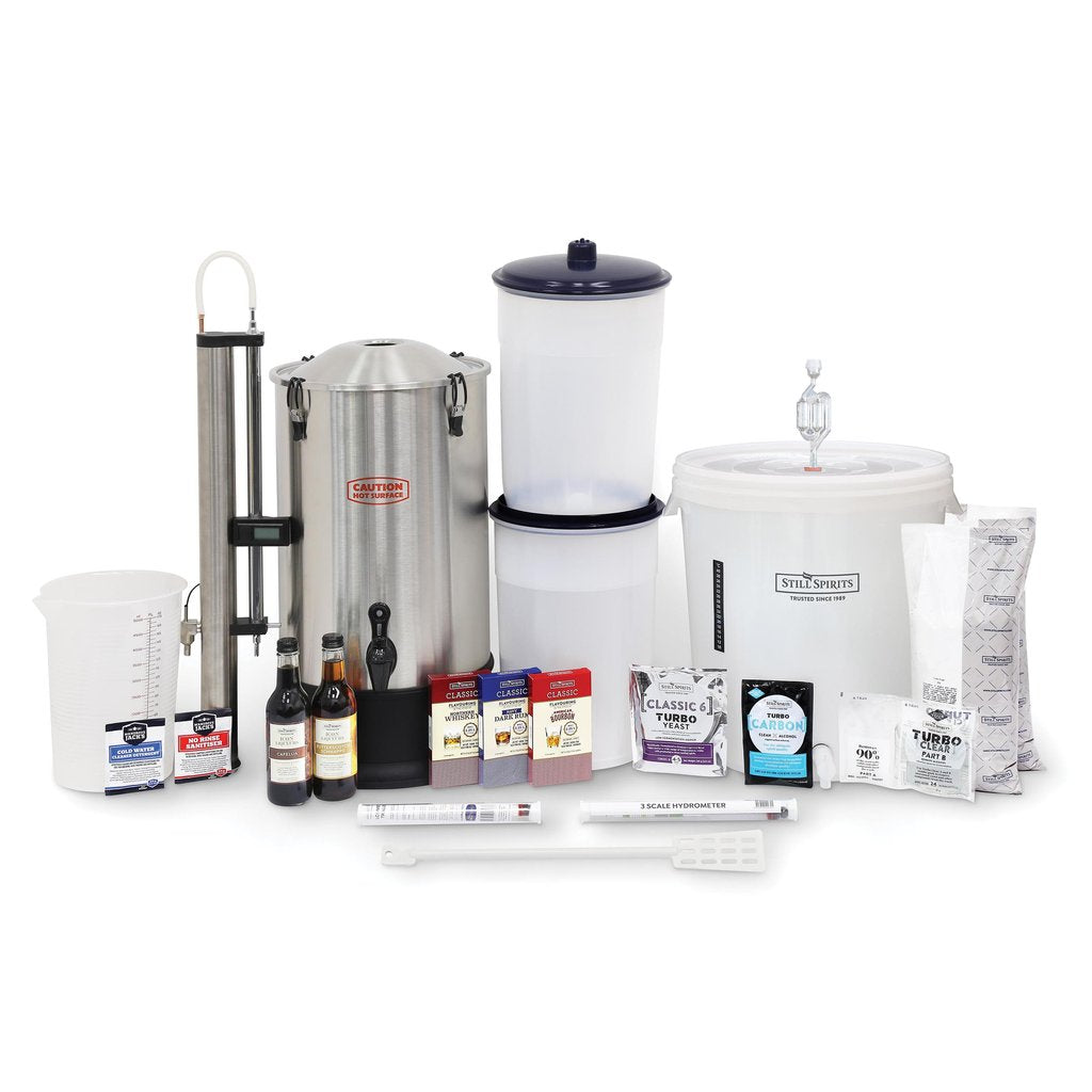 Turbo Still 500 (Stainless Steel Condenser) Complete Distillery Kit