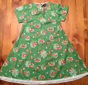 Green Strawberry Patch Dress