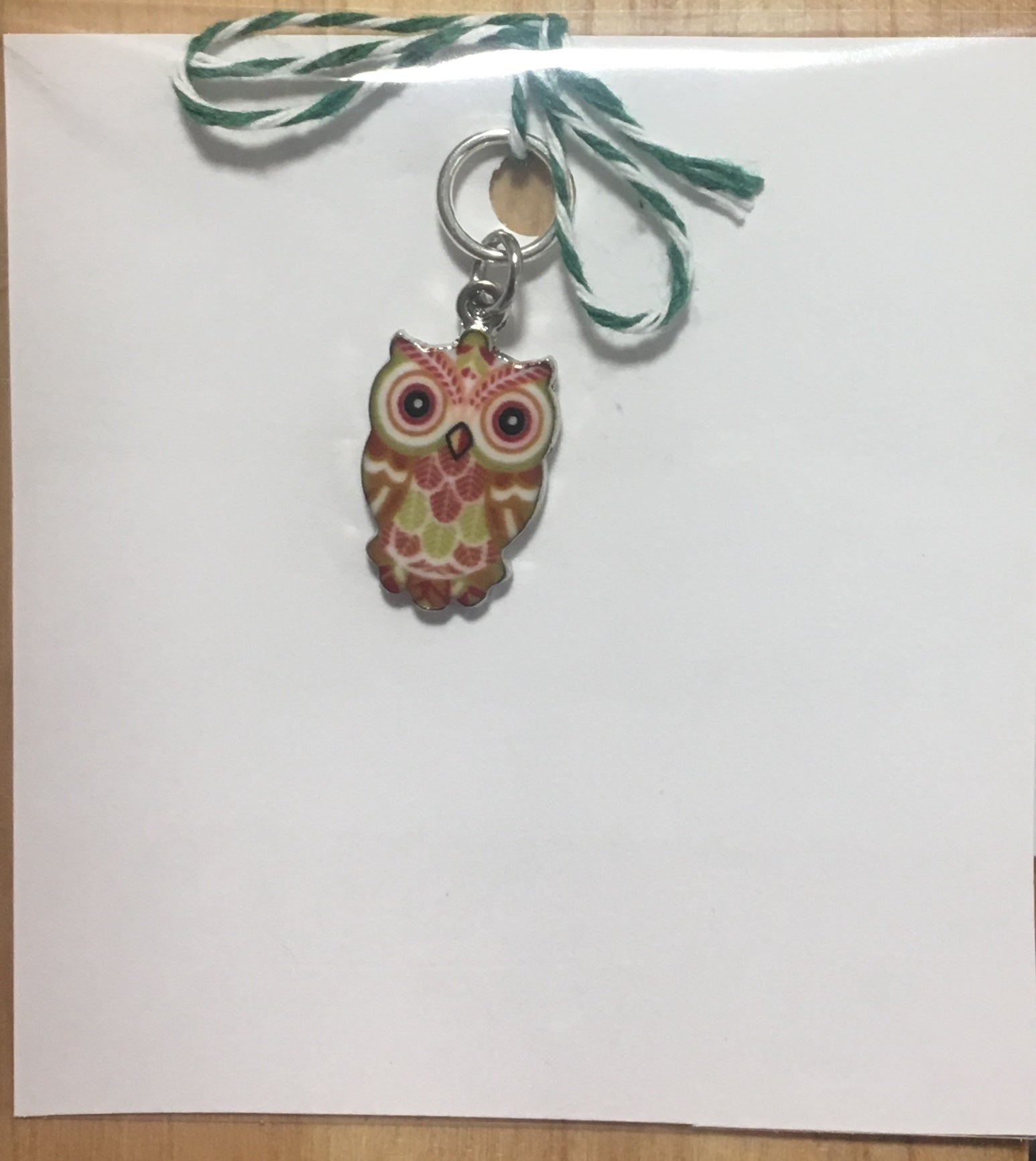 Tawny Owl Single Stitch Marker