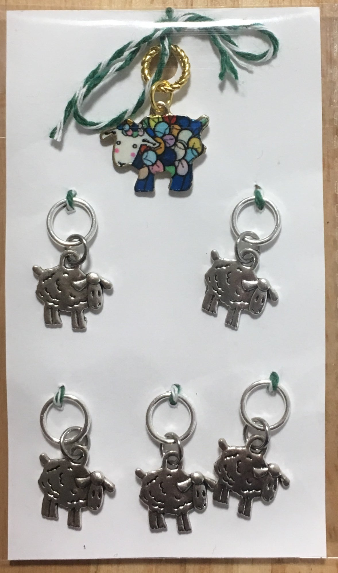 Multi Coloured Sheep Stitch Marker Set
